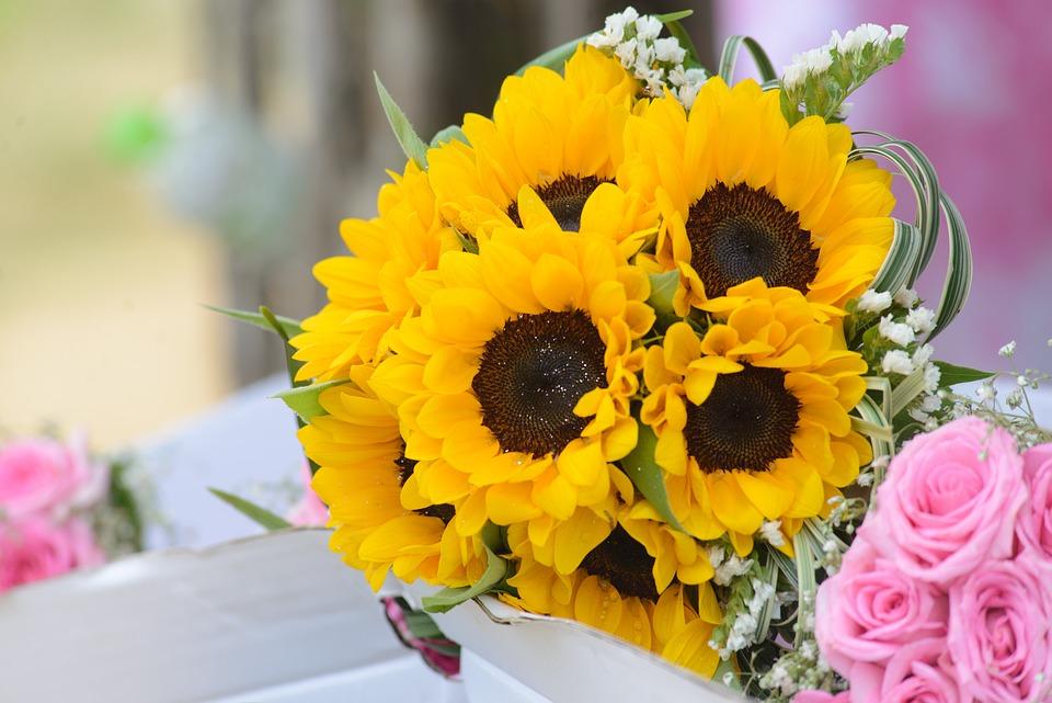 Wedding Flowers Sunflowers Flower Gold