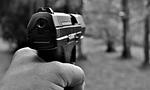 pistol, weapon, target