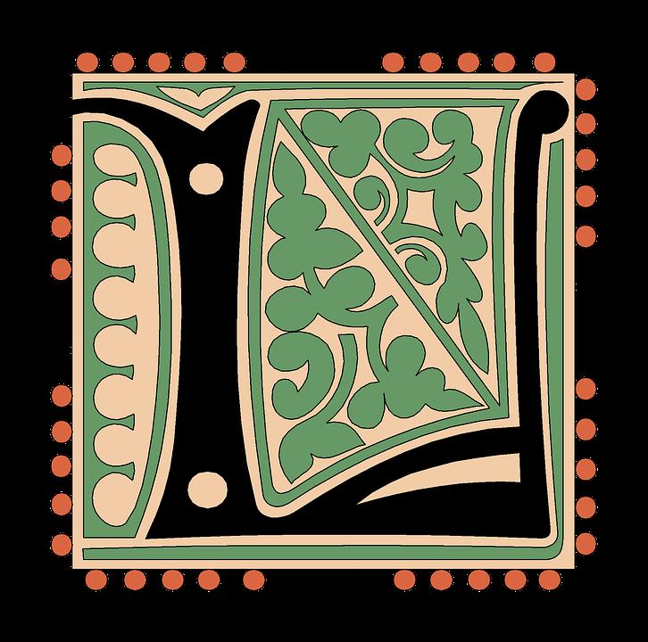 L Alphabet Vintage Letter Old Antique Calligraphy