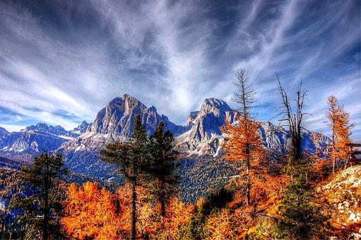 Δολομίτες, Βουνά, Ιταλία, Άλπεις, Θέα