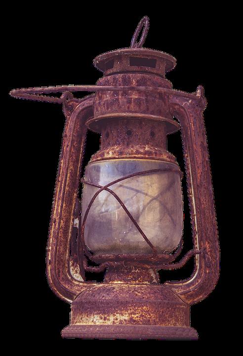 Kerosene Lamp Old Wire Mesh