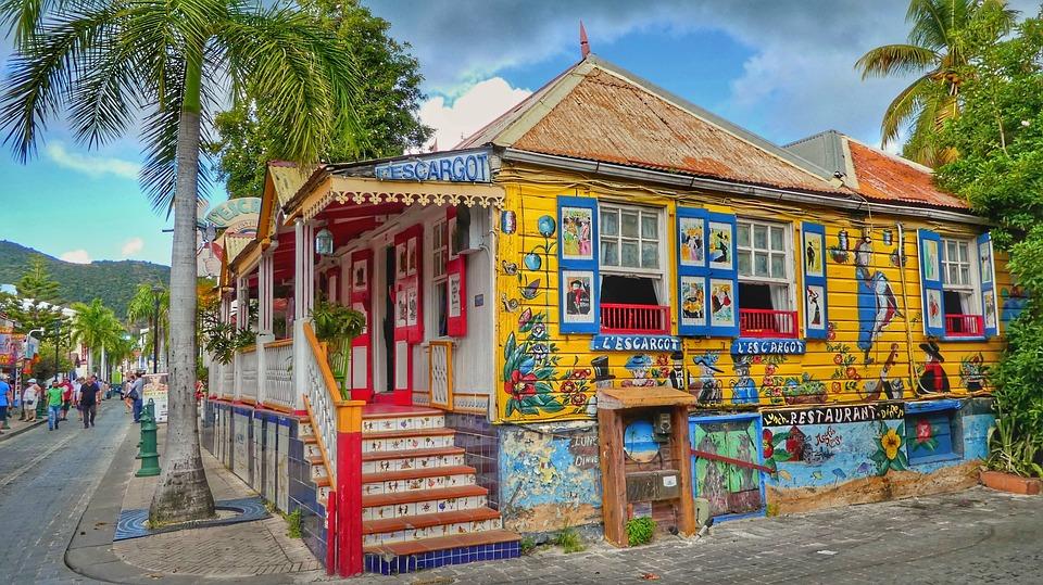 Caribbean, St Maarten, Philipsburg, Vakantie