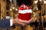 christmas, gift, hand