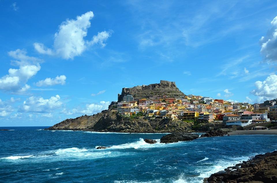 Sardinia, Sea, Castelsardo, Historic Center