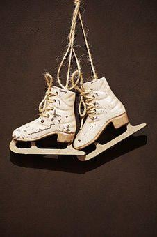 Skates, Decor, Winter, Christmas, Advent