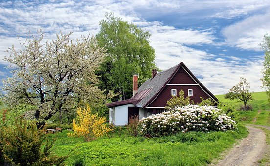 Spring, Cottage, House, Home, Garden