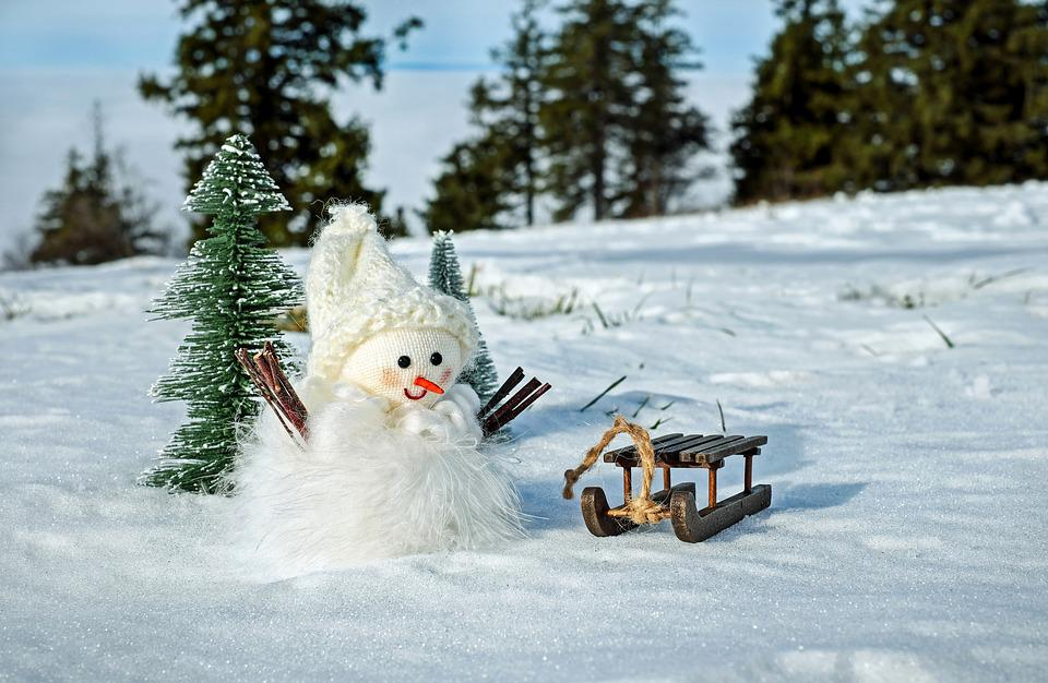 Free Photo: Snow Man, Snow, Winter, Cold