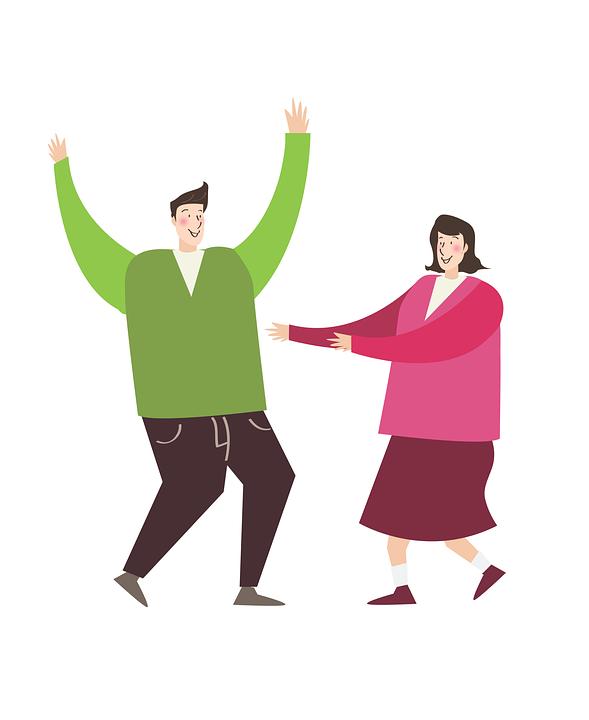 Mann, Frauen, Paar, Freude, Tanzen, Tanz, Spaß