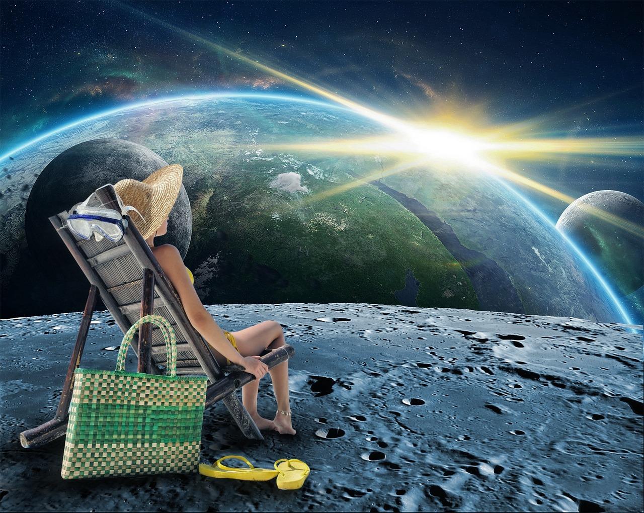 Картинки девушка в космосе