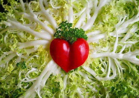 Friseesalat, Salad, Fresh, Vegetarian