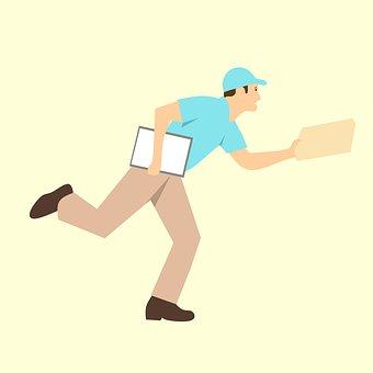 宅配便, 配信, ラッシュ, 漫画のキャラクター, アイデア, ワーカー, 式