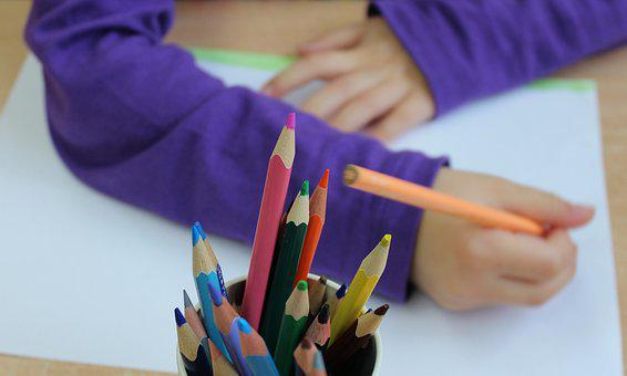 Niño, Dibujo, Para Colorear