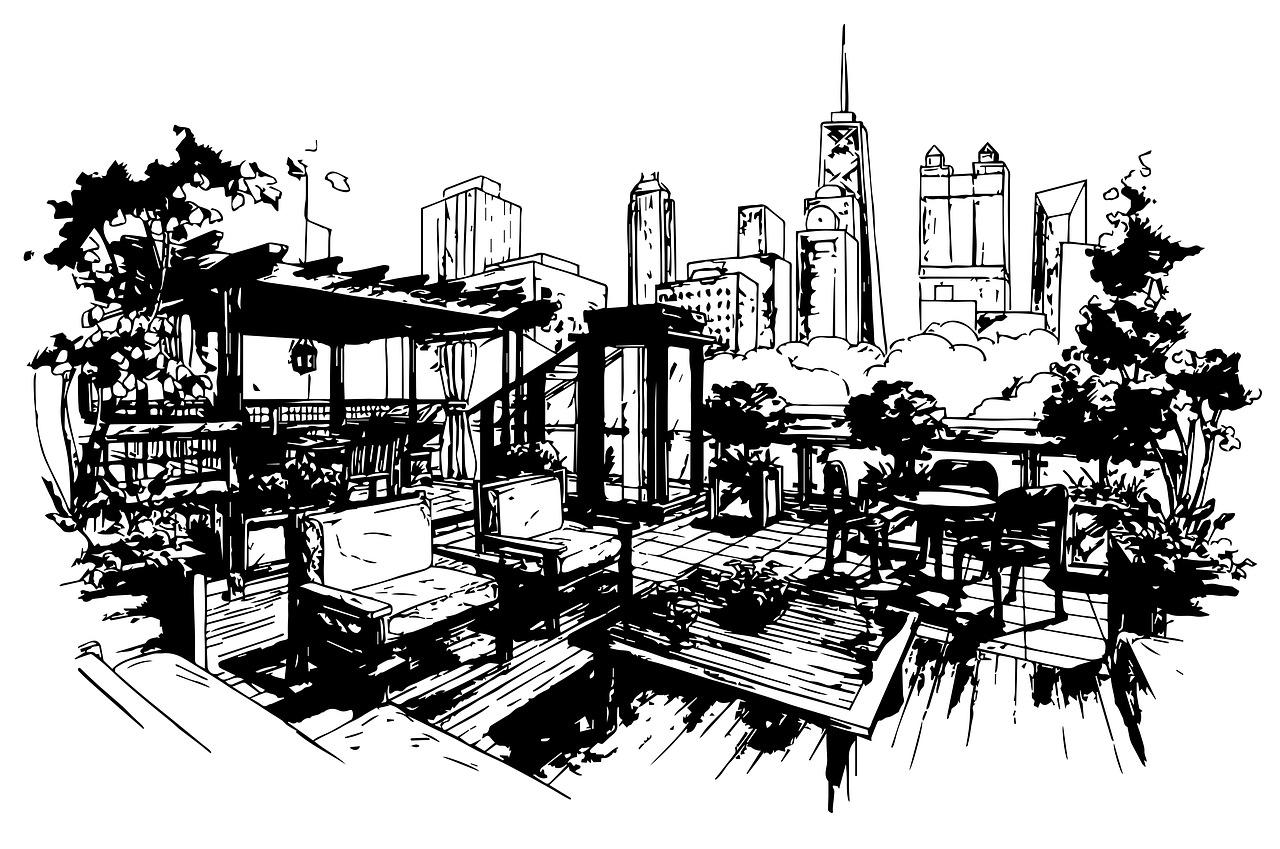 Sketch Architecture Monochrome Free Image On Pixabay