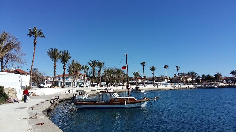 Турция, Сиде, Курорт, Пальмы