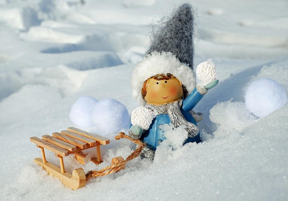 Dziewczyna, Postać, Kuli Śnieżnej, Rzut, Śnieg, Śniegu