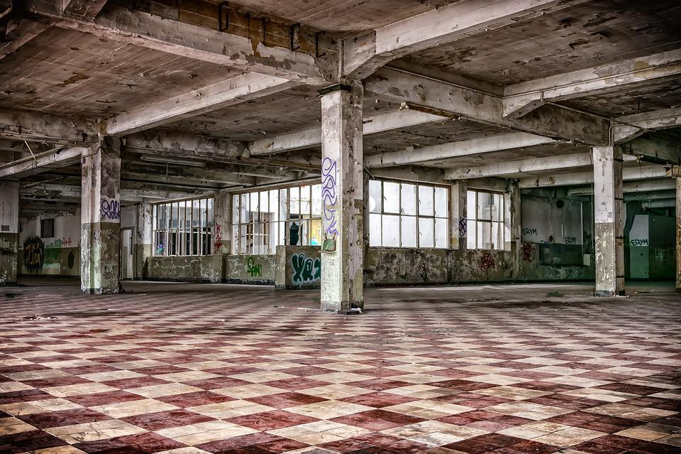 失われた場所, ホール, 円柱状の, Pforphoto, 経過, 雰囲気, 工場, 古い, 崩壊