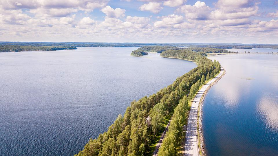 Suomi, Punkaharju, Maisema, Kesä, Järvi, Järvimaisema