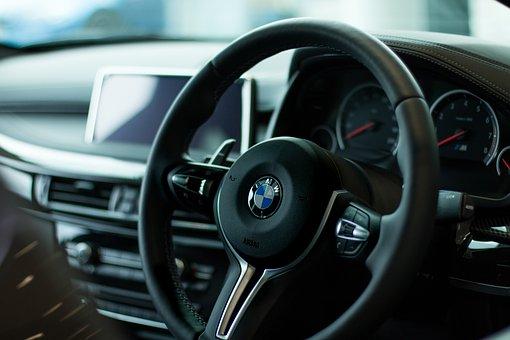 Bmw, Steering Wheel, Vehicle, Transport