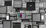 tv, wall, vintage