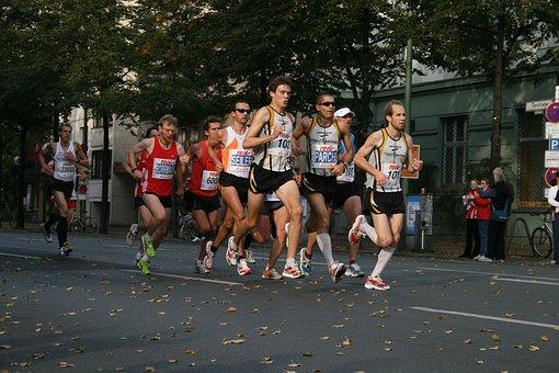 Marathon, Berlin, Runners, Run, Sport