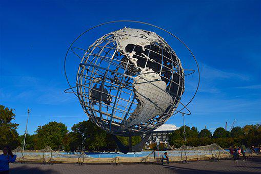 Globe, Sculpture, Park, Metal, Earth