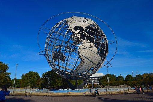 Globe, Sculpture, Park, Metal, Earth