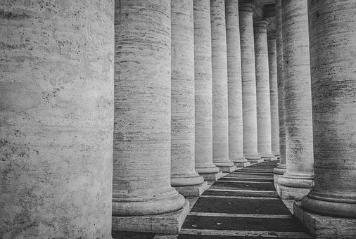 Columns, Basilica, Church, Architecture