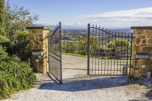 Gate, Electric, Threshold, Entrance