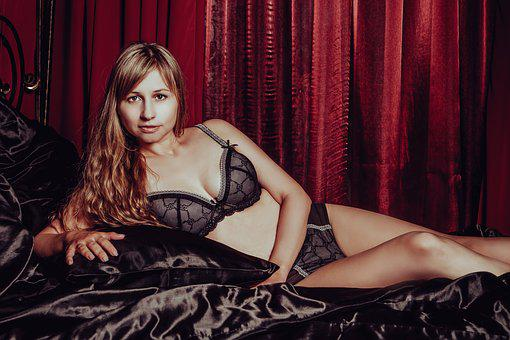 In Lingerie, Nude, Model, Legs, Sexy