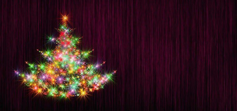 Christmas Tree Background Structure Blue