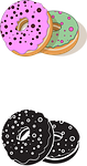 donuts, sweets, colorful