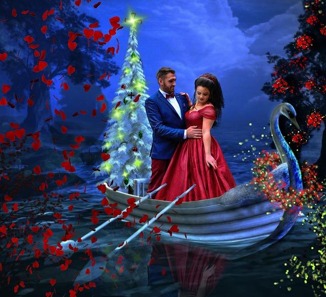 Рождественская открытка любовь