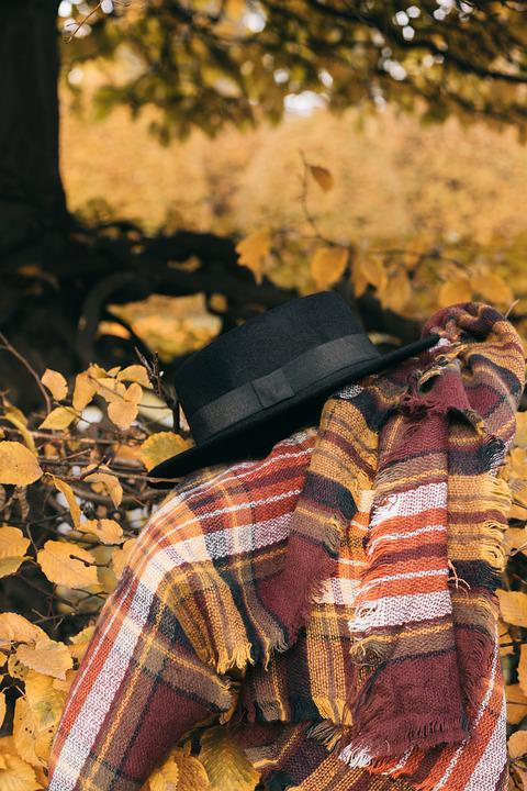 Hat, Scarf, Autumn, Nature, Coat, Beautiful, Graphics