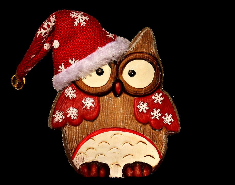 free photo owl figure wood christmas free image on