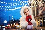 christmas, lights, snow