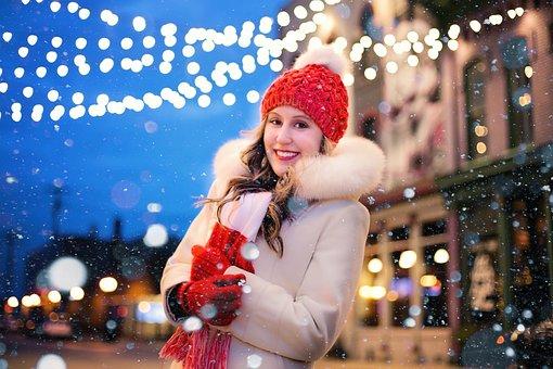 Giáng Sinh, Đèn, Tuyết, Đèn Giáng Sinh