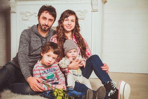 Familia, Photoshoot, Sillón, Mamá