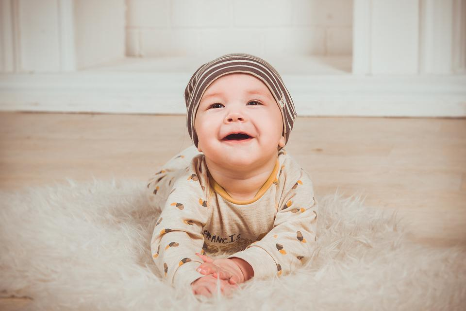 Babe smile newborn small child slider boy person