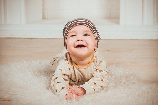 Babe, Smile, Newborn, Small Child, Boy