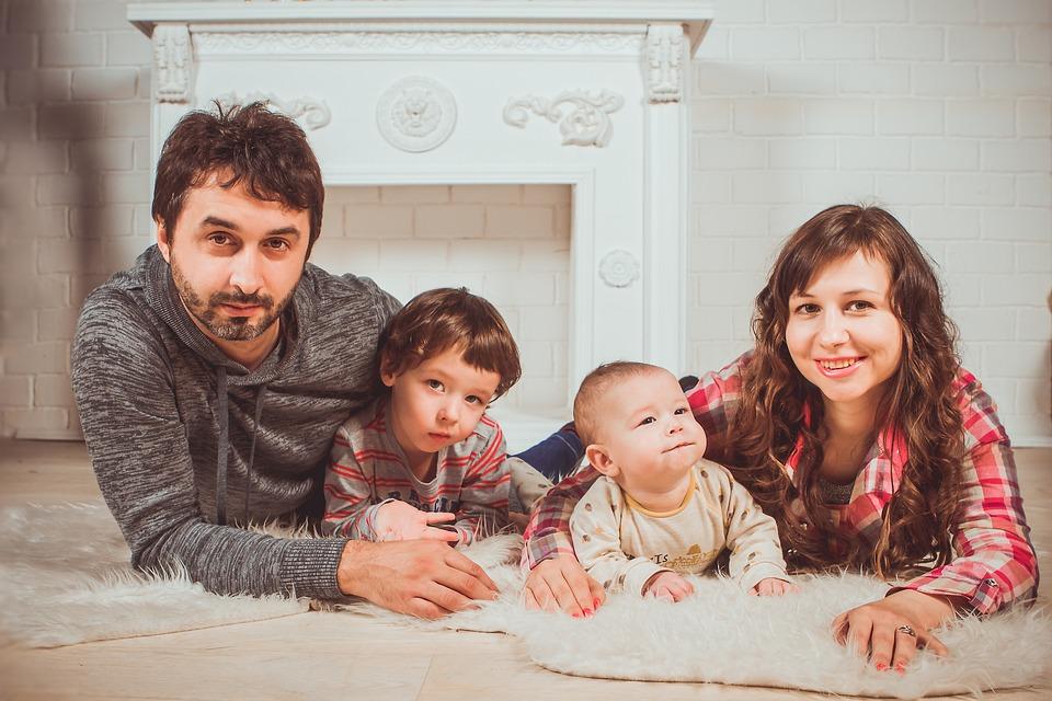Rodzina, Rodzinna Sesja Zdjęciowa, Rodzice Z Dziećmi