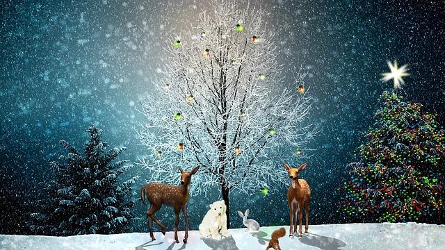 Christmas Tree Greeting · Free Image On Pixabay