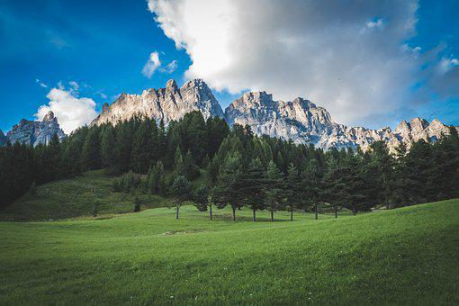 Mountains, Dolomite, Landscape, Nature