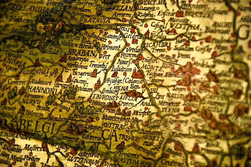 map cologne germany old way globe germany map