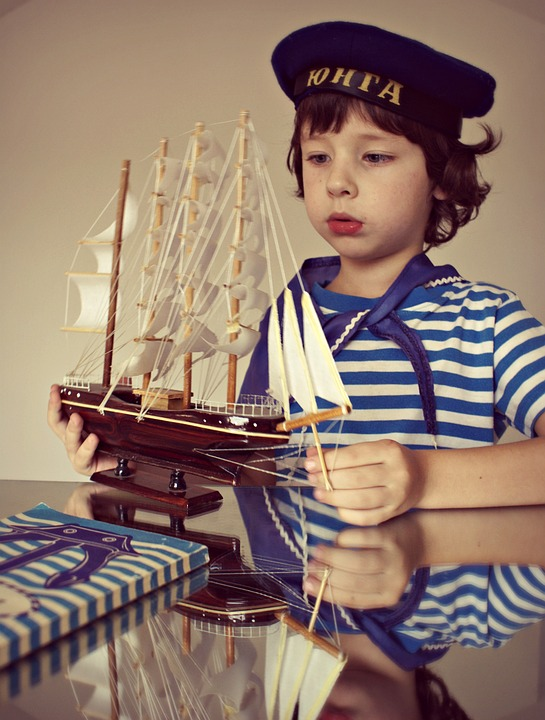 Boy, Ship, Sailor, Kids, Sea, View, Childhood, Nicely