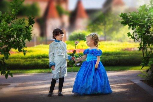 王子和公主, 孩子们, 公园, 城堡, 小女孩, 男孩, 婴儿, 女孩, 公主