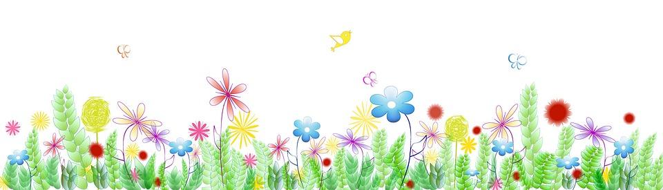 banner spring flower free image on pixabay rh pixabay com spring flowers clip art banner Flower Clip Art