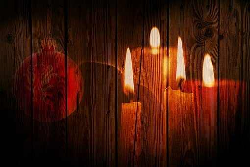 Christmas, Candles, Candlelight, Flame