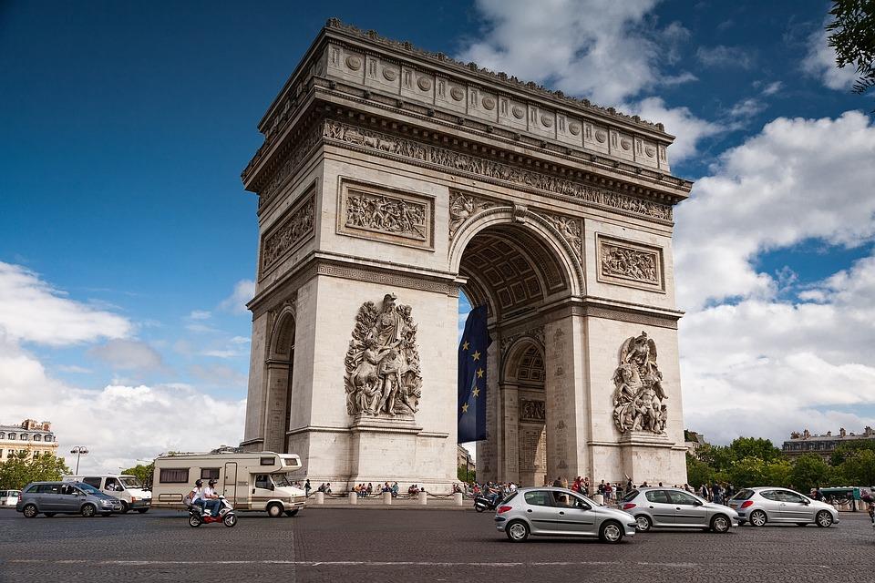 arc de triomphe paris landscape free photo on pixabay. Black Bedroom Furniture Sets. Home Design Ideas