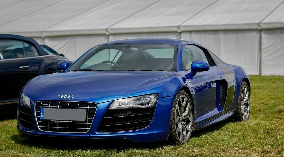 Audi R8 Audi R8 V10 Blue Supercar Modern Car