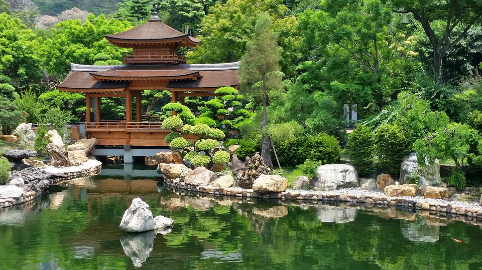 Japan garden temple free photo on pixabay for Japanese garden pond design